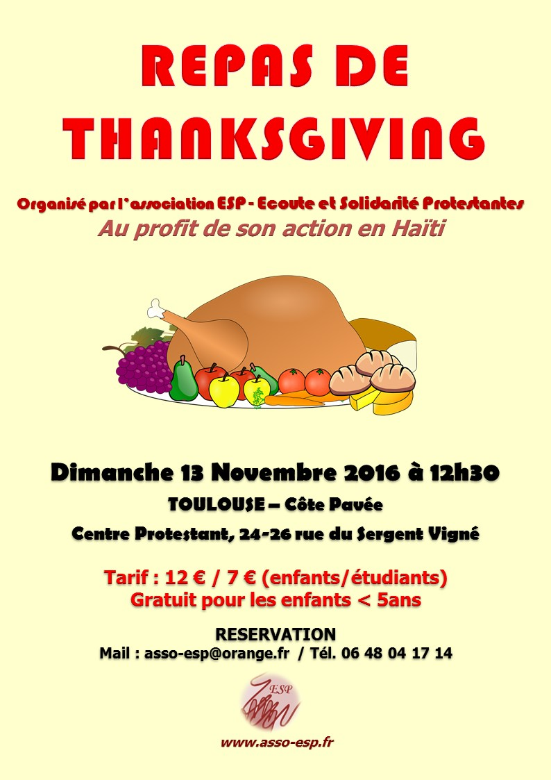 Esp affiche repas thanksgiving 13nov2016