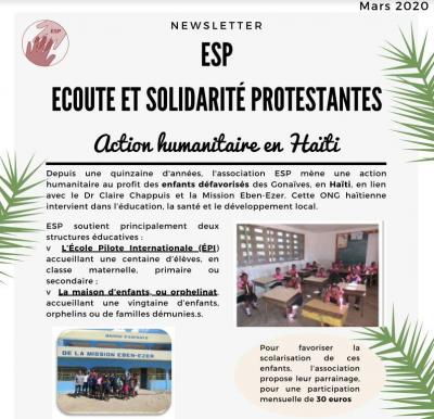 Esp_Nouvelles Haïti_Projets ONG Eben Ezer