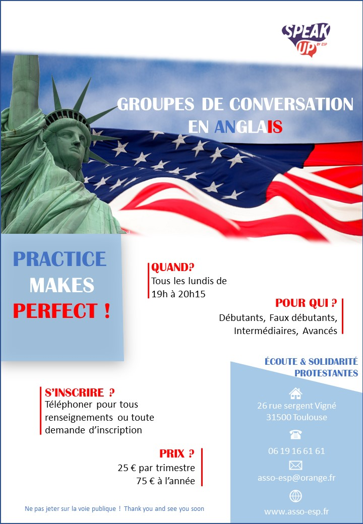 Reprise des ateliers de conversation anglaise