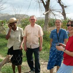 Visite du Vice-président Maurice Raetz à Gonaïves, 2011