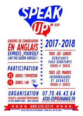 Speak up 2017 flyer